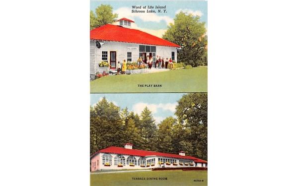 Word of Life Island Schroon Lake, New York Postcard