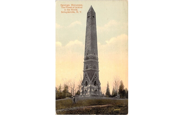 Saratoga Monument Schuylerville, New York Postcard