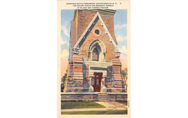 Saratogga Battle Monument Schuylerville, New York Postcard