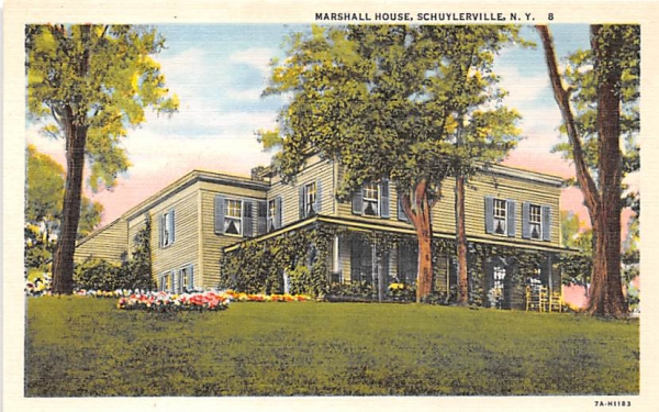Marshall House Schuylerville, New York Postcard
