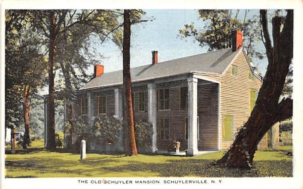 Old Schuyler Mansion Schuylerville, New York Postcard