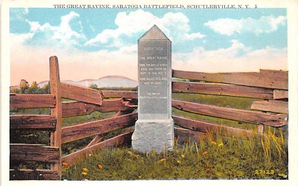 Great Ravine Schuylerville, New York Postcard