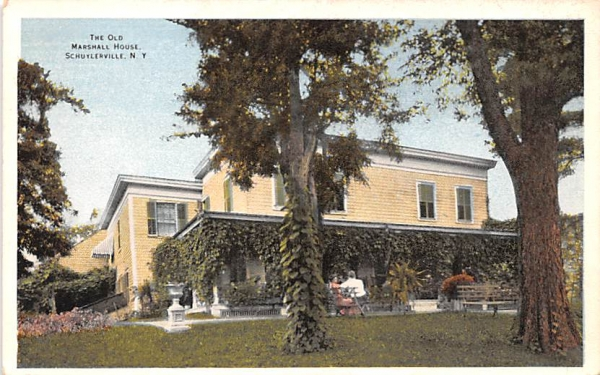 The Old Marshall House Schuylerville, New York Postcard