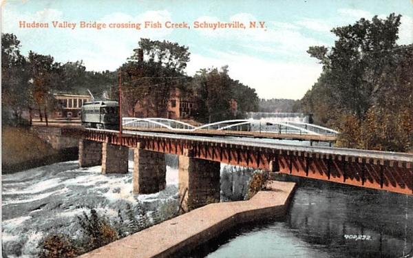 Hudson Valley Bridge Schuylerville, New York Postcard