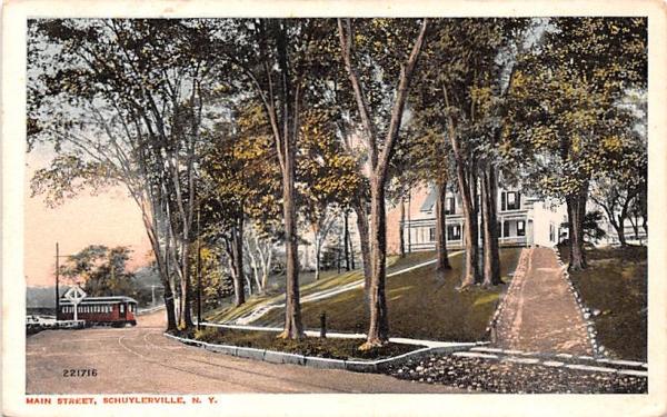 Main Street Schuylerville, New York Postcard