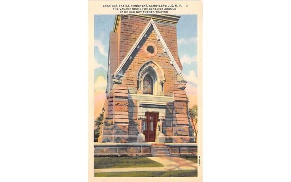 Saratoga Battle Monument Schuylerville, New York Postcard