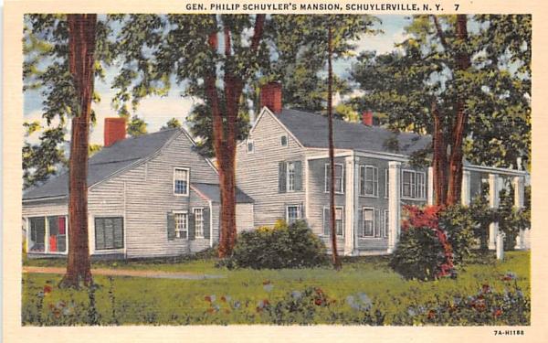 Gen Philip Schuyler's Mansion Schuylerville, New York Postcard