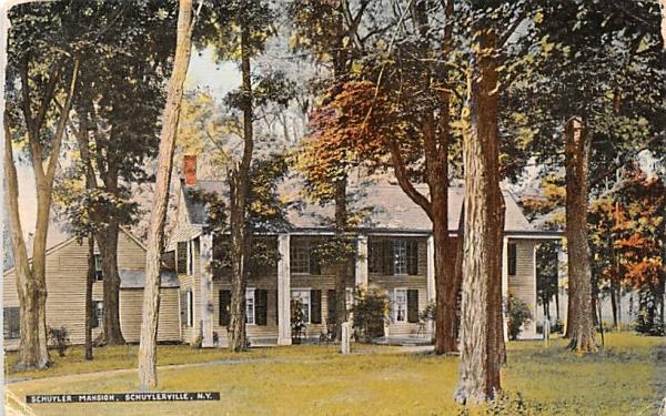Schuyler Mansion Schuylerville, New York Postcard