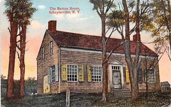 Burton House Schuylerville, New York Postcard