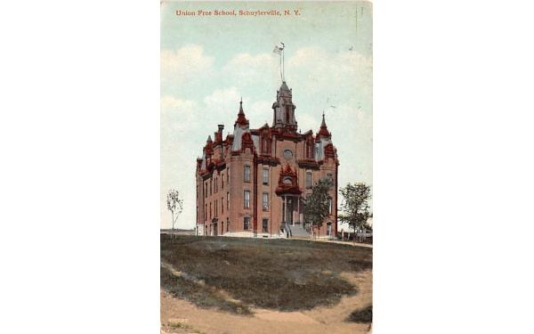 Union Free School Schuylerville, New York Postcard