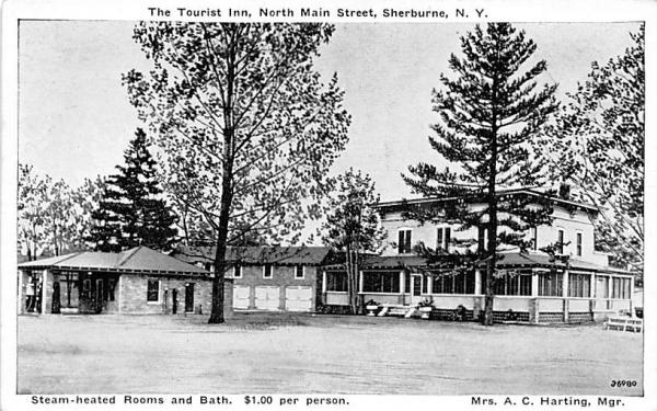 Steam-heated Rooms and Bath Sherburne, New York Postcard