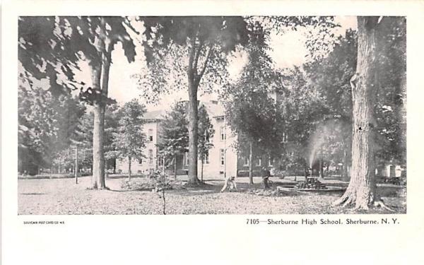 Sherburne High School New York Postcard