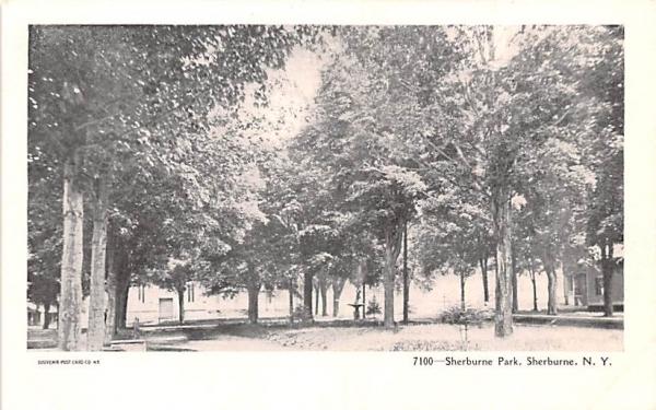 Sherburne Park New York Postcard