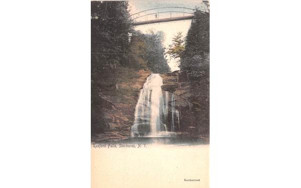 Rexford Falls Sherburne, New York Postcard