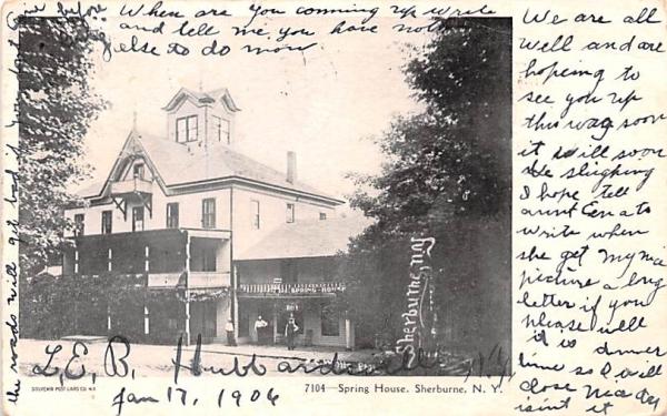 Spring House Sherburne, New York Postcard