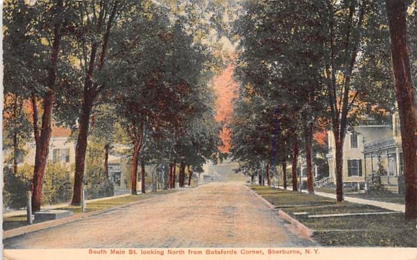 South Main Street Sherburne, New York Postcard