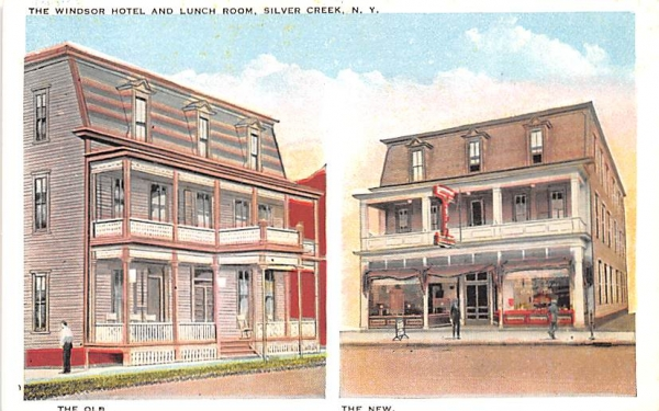 Windsor Hotel & Lunch Room Silver Creek, New York Postcard