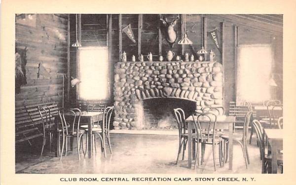 Club Room Stony Creek, New York Postcard