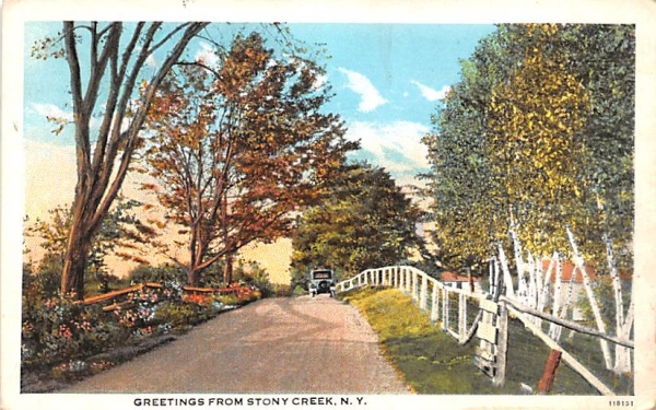 Greetings From Stony Creek, New York Postcard