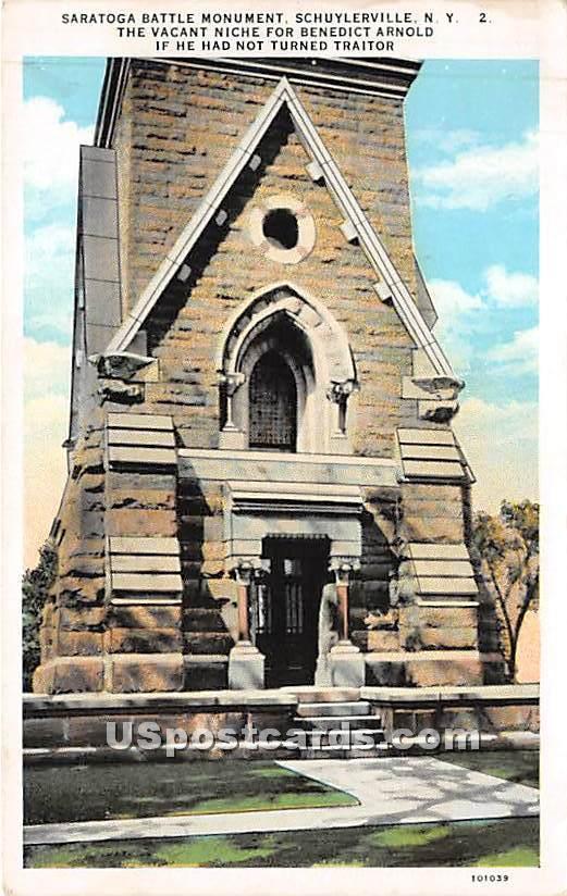 Saratoga Battle Monument - Schuylerville, New York NY Postcard