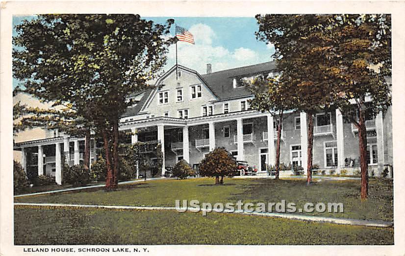 Leland House - Schroon Lake, New York NY Postcard