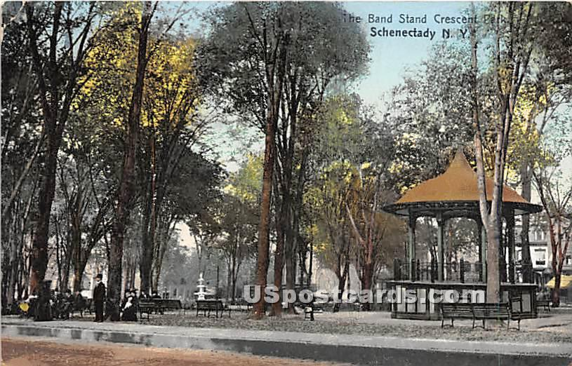 Band Stand - Schenectady, New York NY Postcard
