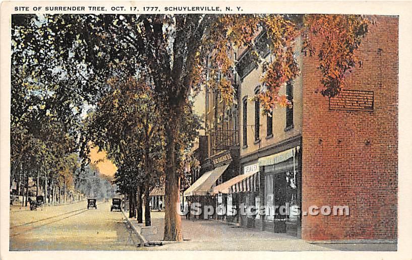 Surrender Tree Oct 17, 1777 - Schuylerville, New York NY Postcard