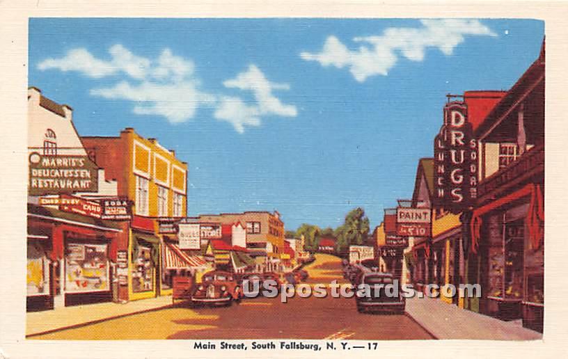 Main Street - South Fallsburg, New York NY Postcard
