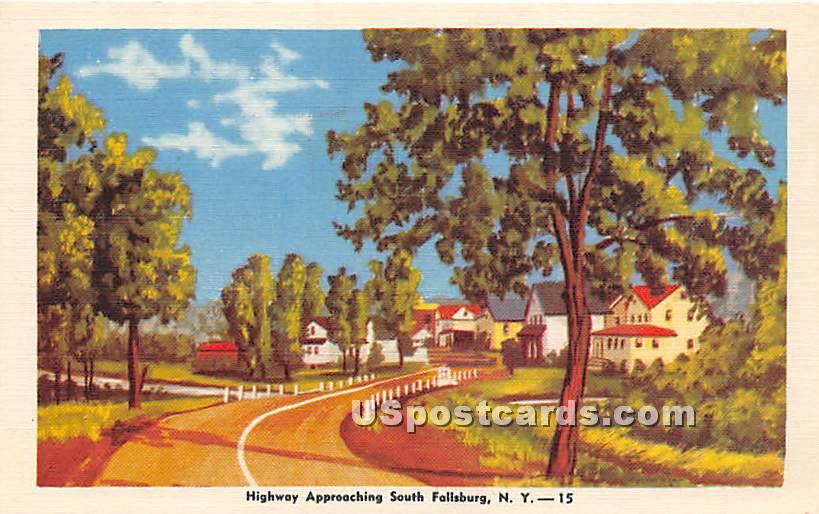 Highway - South Fallsburg, New York NY Postcard