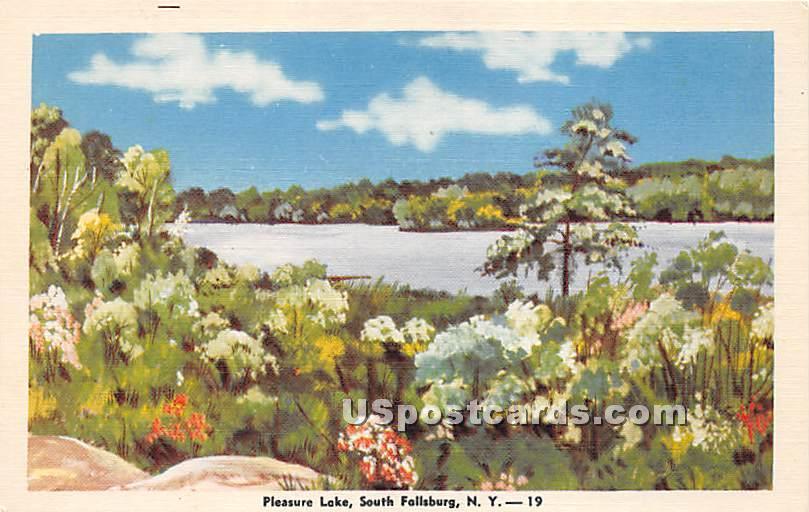 Pleasure Lake - South Fallsburg, New York NY Postcard