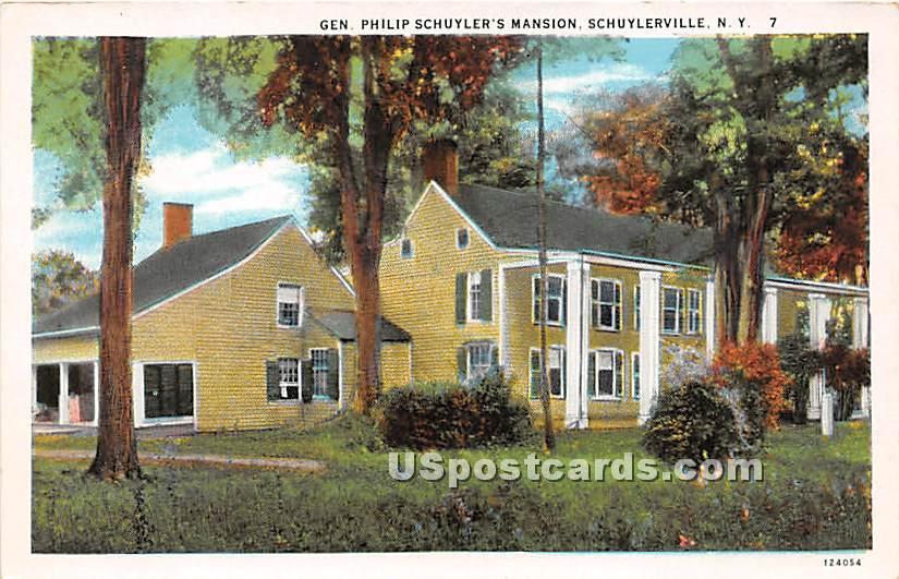 Gen Philip Schuyler's Mansion - Schuylerville, New York NY Postcard