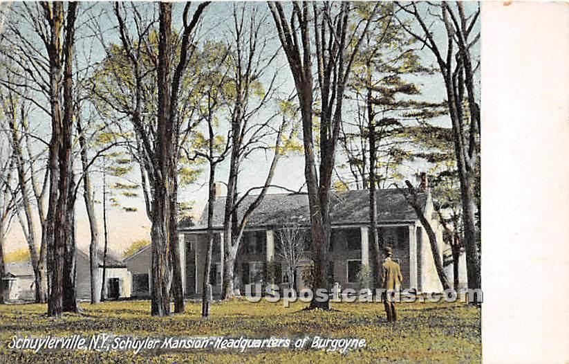 Schuyler Mansion Headquarters - Schuylerville, New York NY Postcard