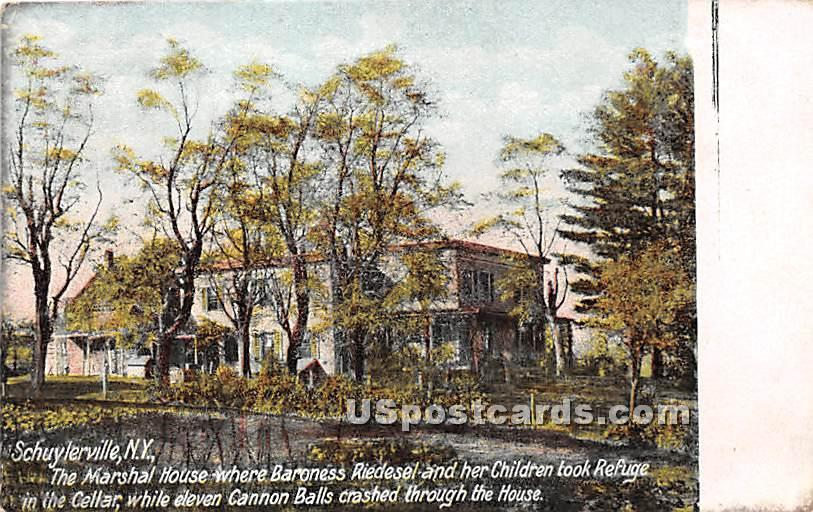Baroness Riedesel too Refuge - Schuylerville, New York NY Postcard