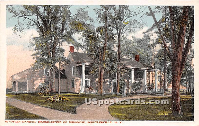 Schuyler Mansion Headquarters of Burgoyne - Schuylerville, New York NY Postcard