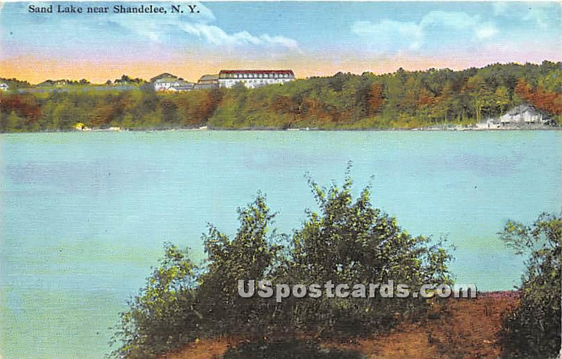 Sand Lake - Shandelee, New York NY Postcard