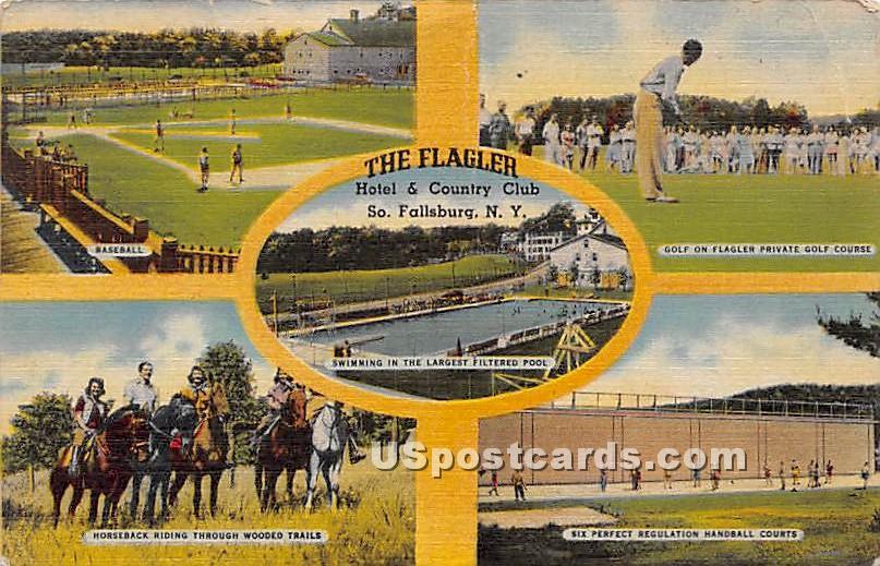 The Flagler Hotel & Country Club - South Fallsburg, New York NY Postcard