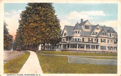 Kendall Place Stamford, New York Postcard