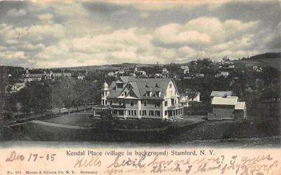 Kendal Place Stamford, New York Postcard