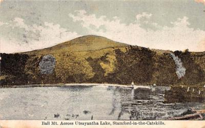 Ball Mountain across Utsayantha Lake Stamford, New York Postcard