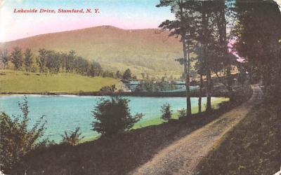 Lakeside Drive Stamford, New York Postcard