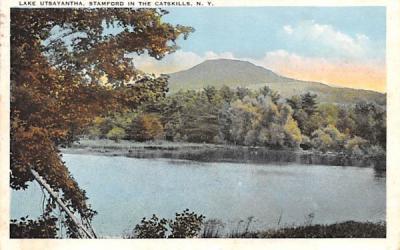 Lake Utsayantha Stamford, New York Postcard