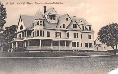 Kendall Place Stamford, New York Postcard