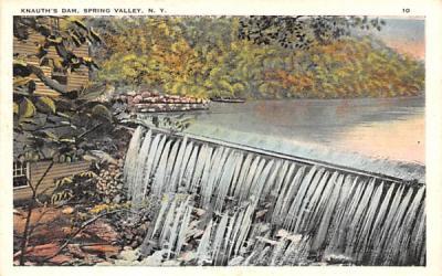 Knauth's Dam Spring Valley, New York Postcard