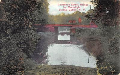 Lawrence Street Bridge Spring Valley, New York Postcard