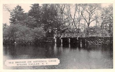 Bridge on Heyenga Lake Spring Valley, New York Postcard