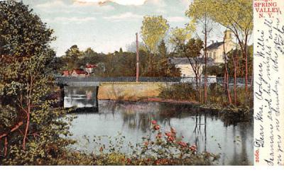 Lawrence Bridge Spring Valley, New York Postcard
