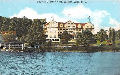 Laurels Country Club Sackett Lake, New York Postcard