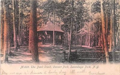 Band Stand Sacandaga Park, New York Postcard