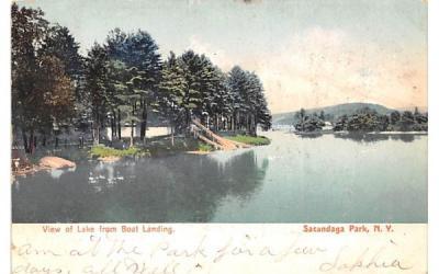 Lake from Boat Landing Sacandaga Park, New York Postcard