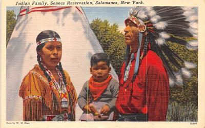 Indian Family Salamanca, New York Postcard